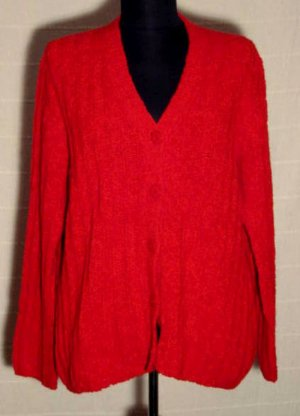 BETTY BARCLAY Twinset Rot Größe 42 Strickjacke + Pulli