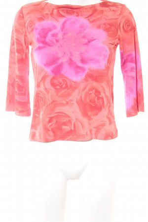 Betty Barclay U-Boot-Shirt lachs-pink Blumenmuster Casual-Look