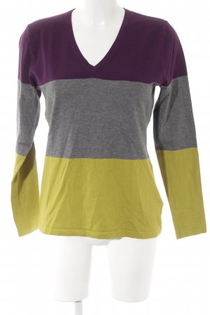 Betty Barclay V-Ausschnitt-Pullover Streifenmuster Casual-Look
