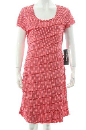 Betty Barclay Volantkleid rot-weiß Punktemuster klassischer Stil