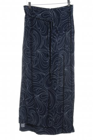 Betty Barclay Wraparound Skirt blue-white graphic pattern casual look