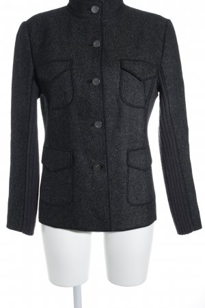 Betty Barclay Woll-Blazer anthrazit-dunkelrot Casual-Look