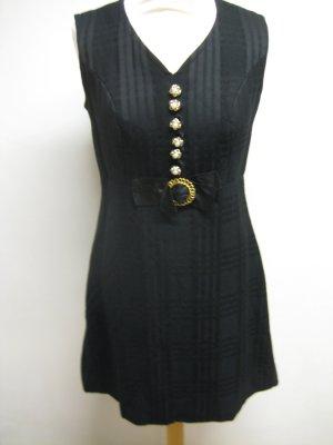 Betty Barclay Woll Kleid schwarz mit gold Gr 36