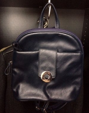 Betty Barcley Rucksack Leder dunkelblau