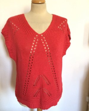 Betty & Co Short Sleeve Sweater salmon-bright red