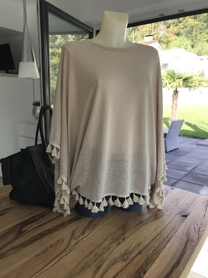 Betty&Co Cape Poncho beige onesize Pullover