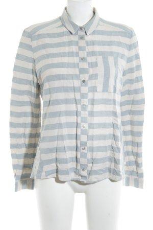 Betty & Co Hemd-Bluse blassblau-hellgrau Streifenmuster schlichter Stil