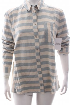 Betty & Co Blusa-camisa azul celeste-beige claro estampado a rayas
