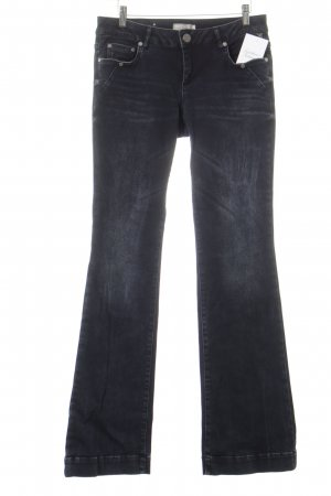 Betty & Co Jeansschlaghose dunkelblau Metallelemente
