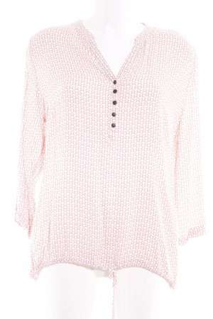 Betty & Co Long-Bluse weiß-apricot Motivdruck Casual-Look
