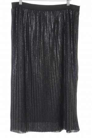 Betty & Co Pleated Skirt silver-colored-black glittery