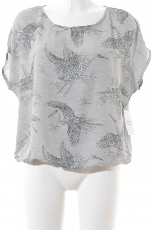 Betty & Co Print-Shirt hellgrau-schwarz Animalmuster schlichter Stil