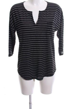 Betty & Co Gestreept shirt zwart-wit gestreept patroon casual uitstraling