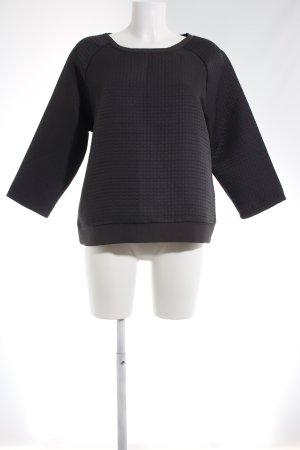 Betty & Co Kraagloze sweater donkergrijs Webpatroon casual uitstraling