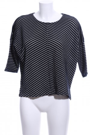 Betty & Co Crewneck Sweater black-white striped pattern business style
