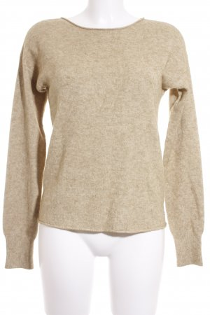 Betty & Co Rundhalspullover sandbraun meliert Casual-Look