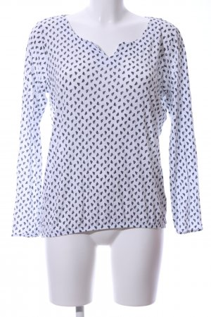Betty & Co Slip-over Blouse white-black allover print casual look