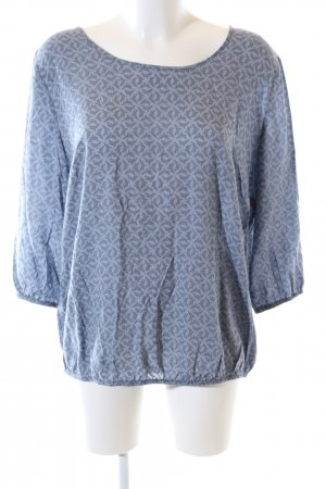 Betty & Co Schlupf-Bluse blau abstraktes Muster Casual-Look