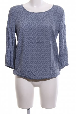 Betty & Co Slip-over blouse blauw volledige print casual uitstraling