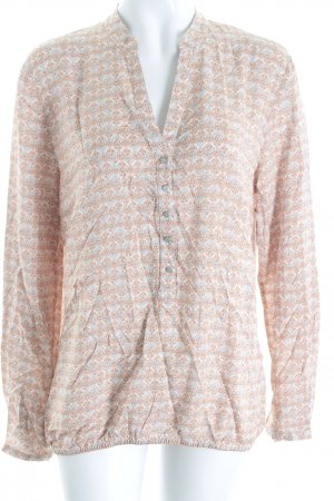 BETTY & CO Schlupf-Bluse hellbraun-weiß Ornamentenmuster Casual-Look