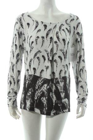 BETTY & CO Shirt weiß-schwarz abstraktes Muster klassischer Stil