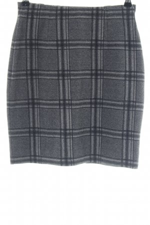 Betty & Co Stretch Skirt light grey check pattern business style