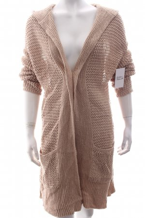 BETTY & CO Strickjacke beige Lochstrickmuster klassischer Stil