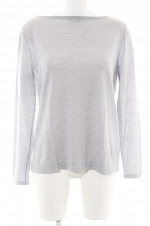 Betty & Co Jersey de punto gris claro moteado look casual