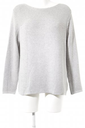 Betty & Co Knitted Sweater grey weave pattern casual look