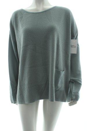 BETTY & CO Strickpullover graugrün klassischer Stil