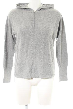 Betty & Co Sweat Jacket light grey flecked casual look