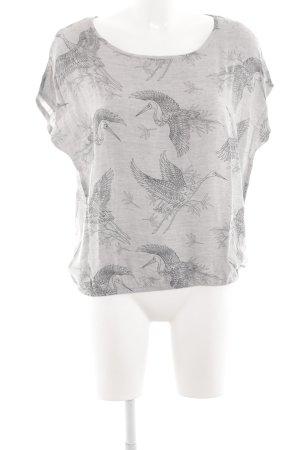 Betty & Co T-Shirt hellgrau Allover-Druck Casual-Look
