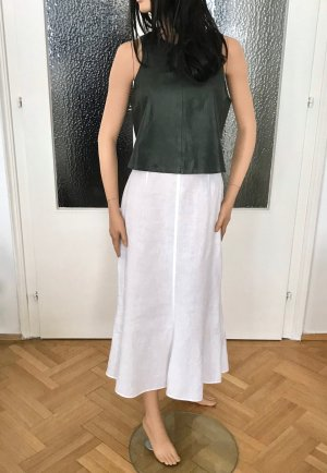 Jupe longue blanc lin