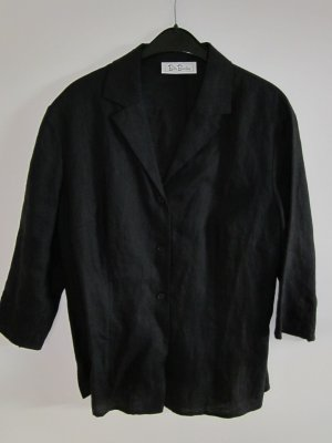 Betty Barclay Chaqueta tipo blusa negro Lino