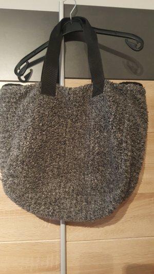 Beutel Tasche Grau mit innen & außen taschen