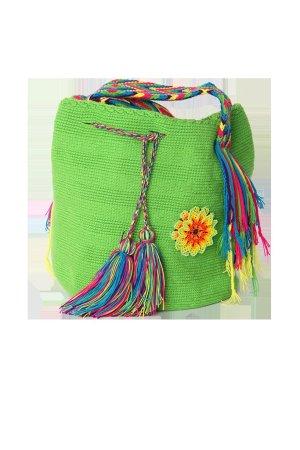 """Beutel """"Wayuuu"""" grün Neu"""