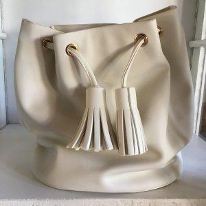Beutelrucksack Weiß Tasche