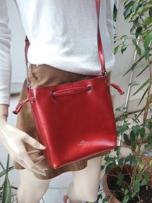 Coach Pouch Bag brick red