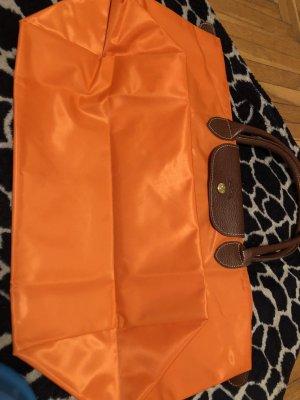 Longchamp Sac seau brun-orange fluo
