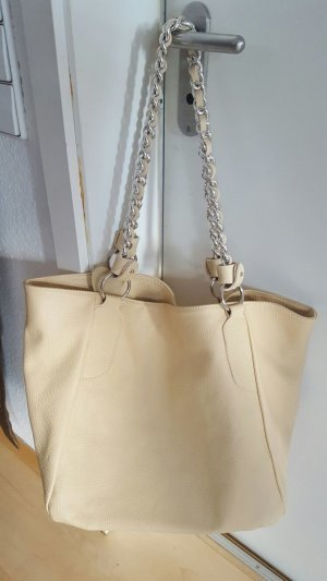 Pouch Bag beige leather