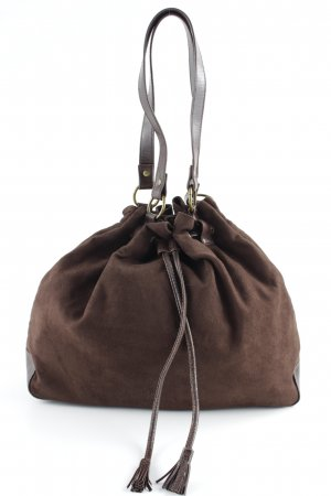Pouch Bag cognac-coloured casual look