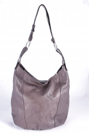 Pouch Bag grey brown-dark brown street-fashion look