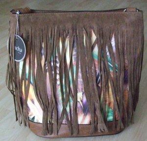 Pouch Bag cognac-coloured imitation leather