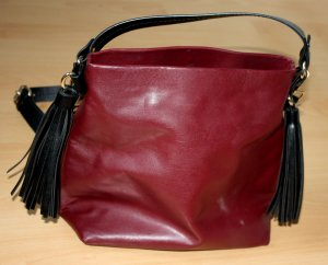 Zara Trafaluc Bolso tipo marsupio rojo oscuro-rojo ladrillo Imitación de cuero