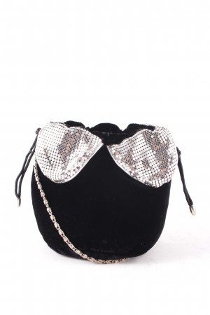 Beuteltasche schwarz-silberfarben extravaganter Stil