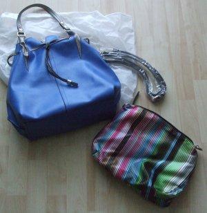 di Lauro Sac seau bleu faux cuir