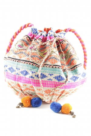 Pouch Bag striped pattern hippie style