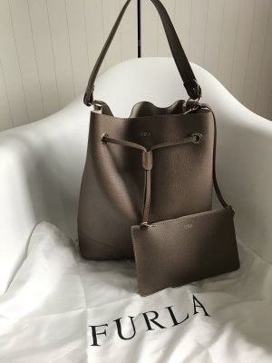 Furla Pouch Bag grey brown