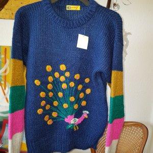 Beutler bunter Vintage Wollpullover GrM *neu*