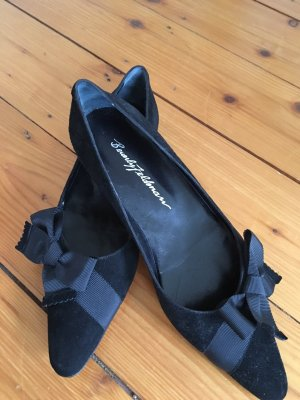Beverly Feldman Ballerinas, schwarz, Größe 38